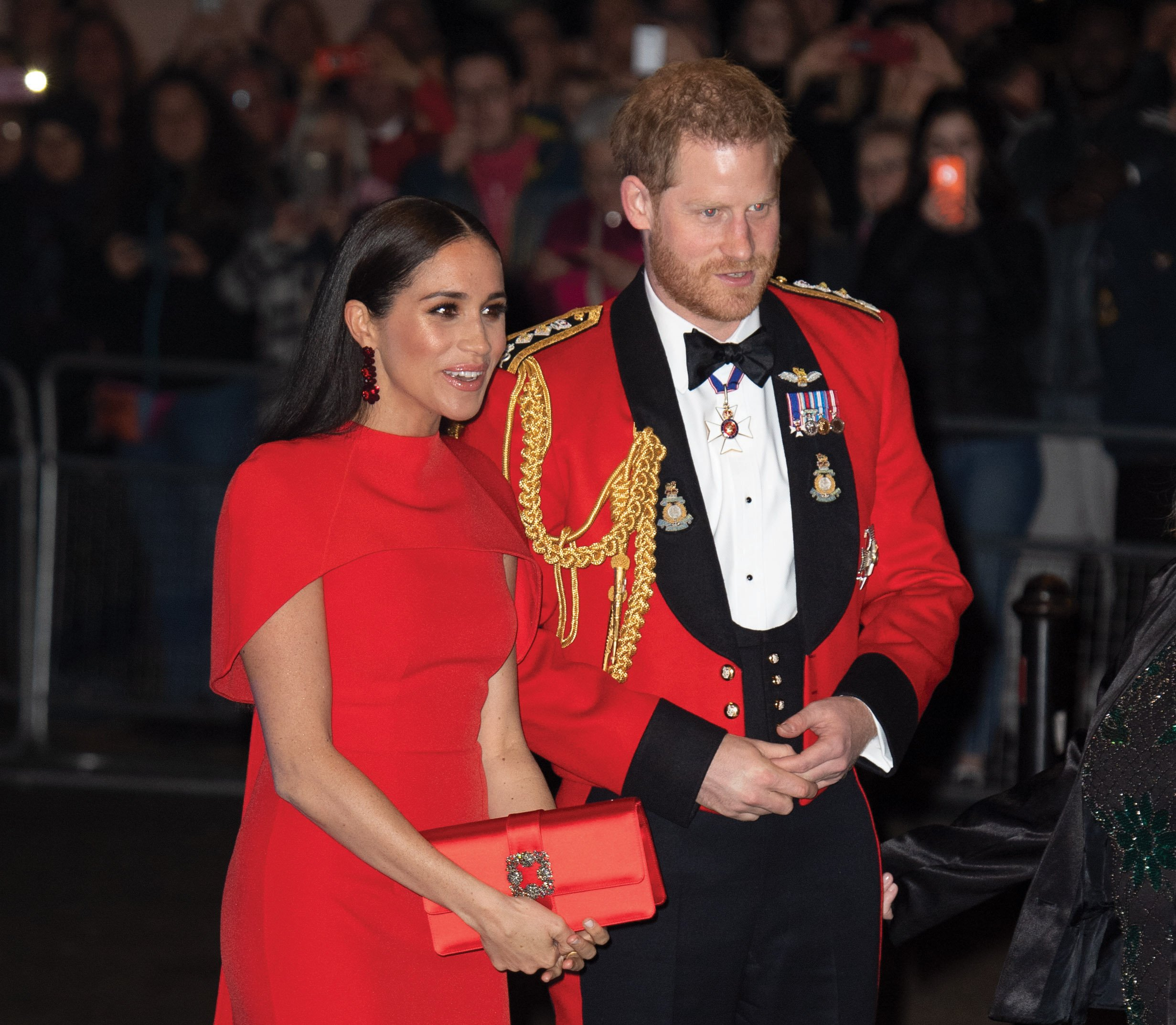 Harry and Meghan have swapped their royal roles for roles as producers (Credit: SplashNews)