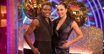 Nicola Adams and Katya Jones on Strictly