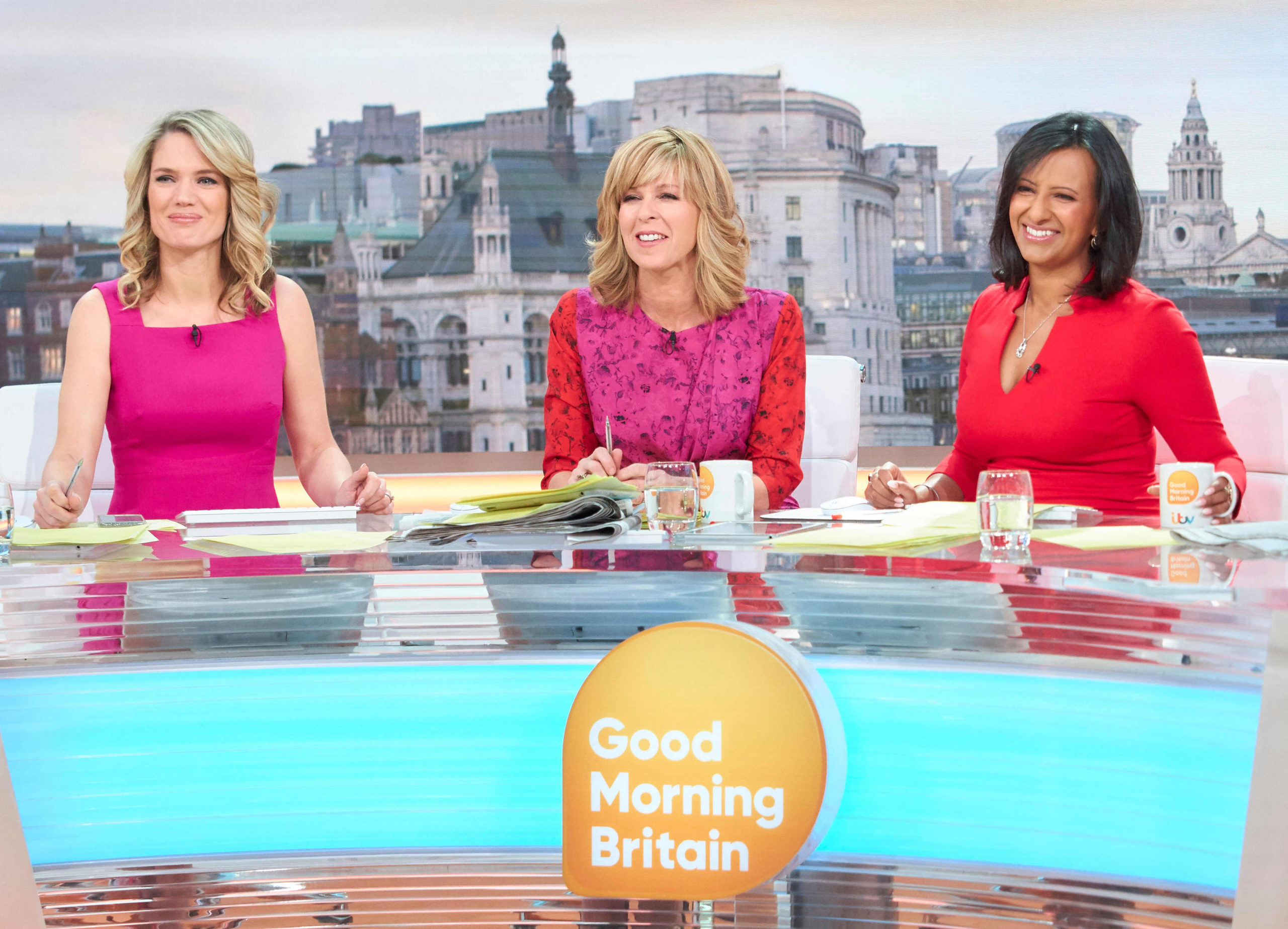 Charlotte Hawkins, Kate Garraway and Ranvir Singh host Good Morning Britain