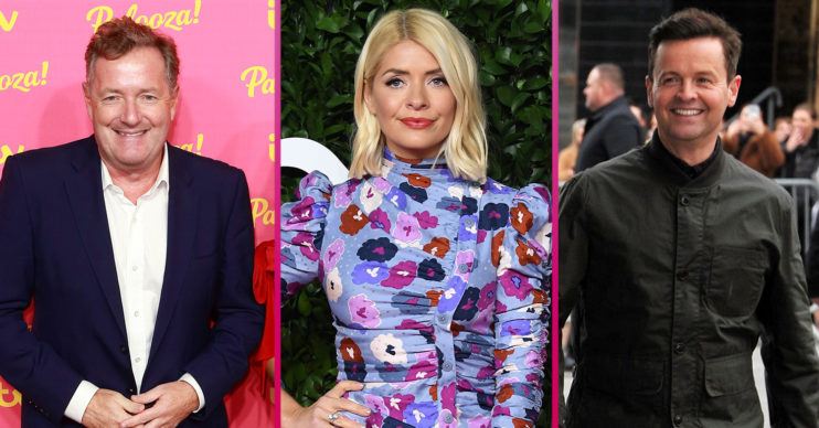 Piers Morgan, Holly Willoughby and Dec Donnelly