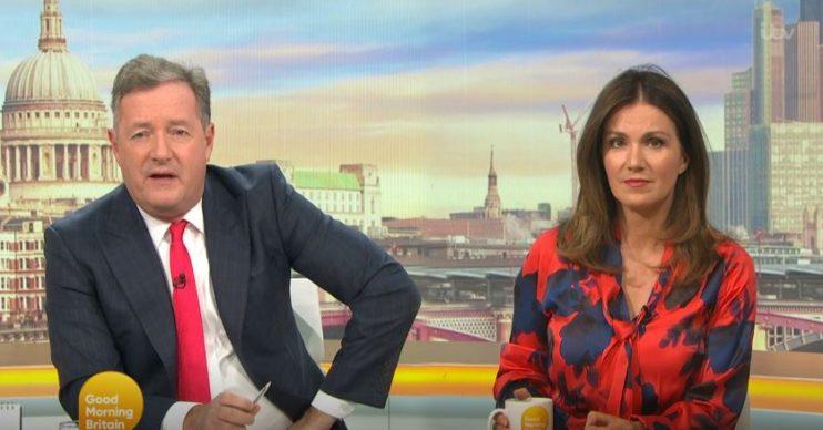 Piers Morgan and Susanna Reid live on GMB