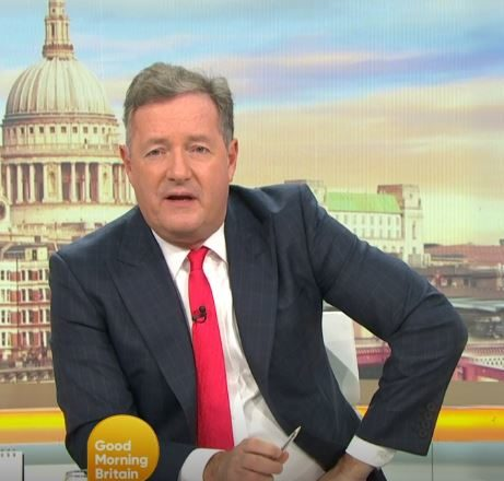 Piers Morgan and Susanna Reid live on GMB
