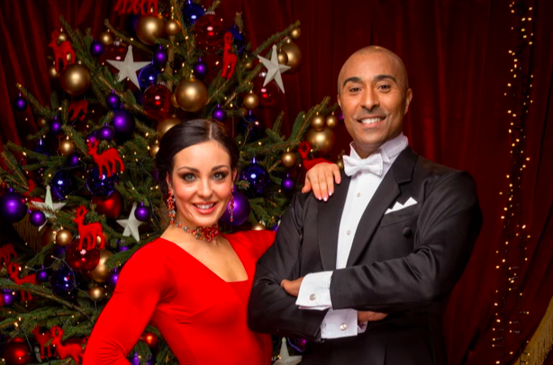 colin jackson Amy Dowden Strictly Christmas