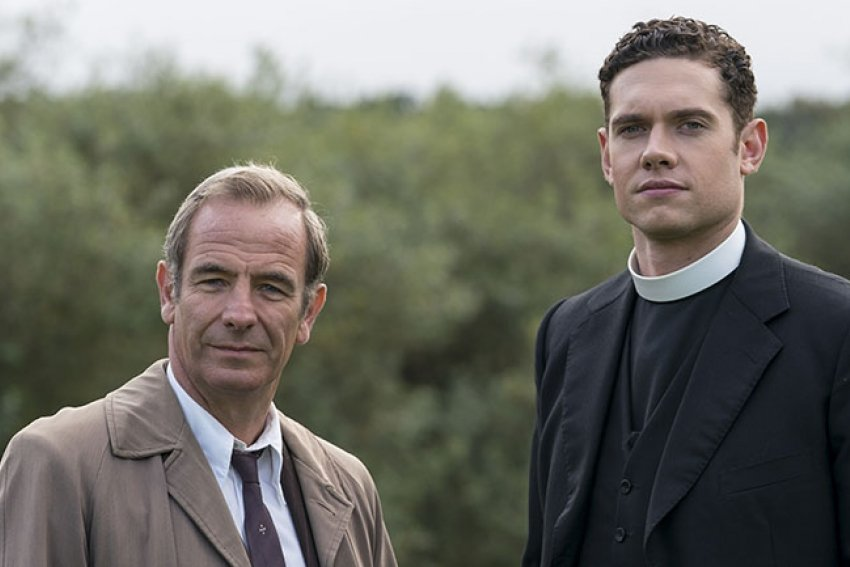 Grantchester stars Robson Green and Tom Brittney