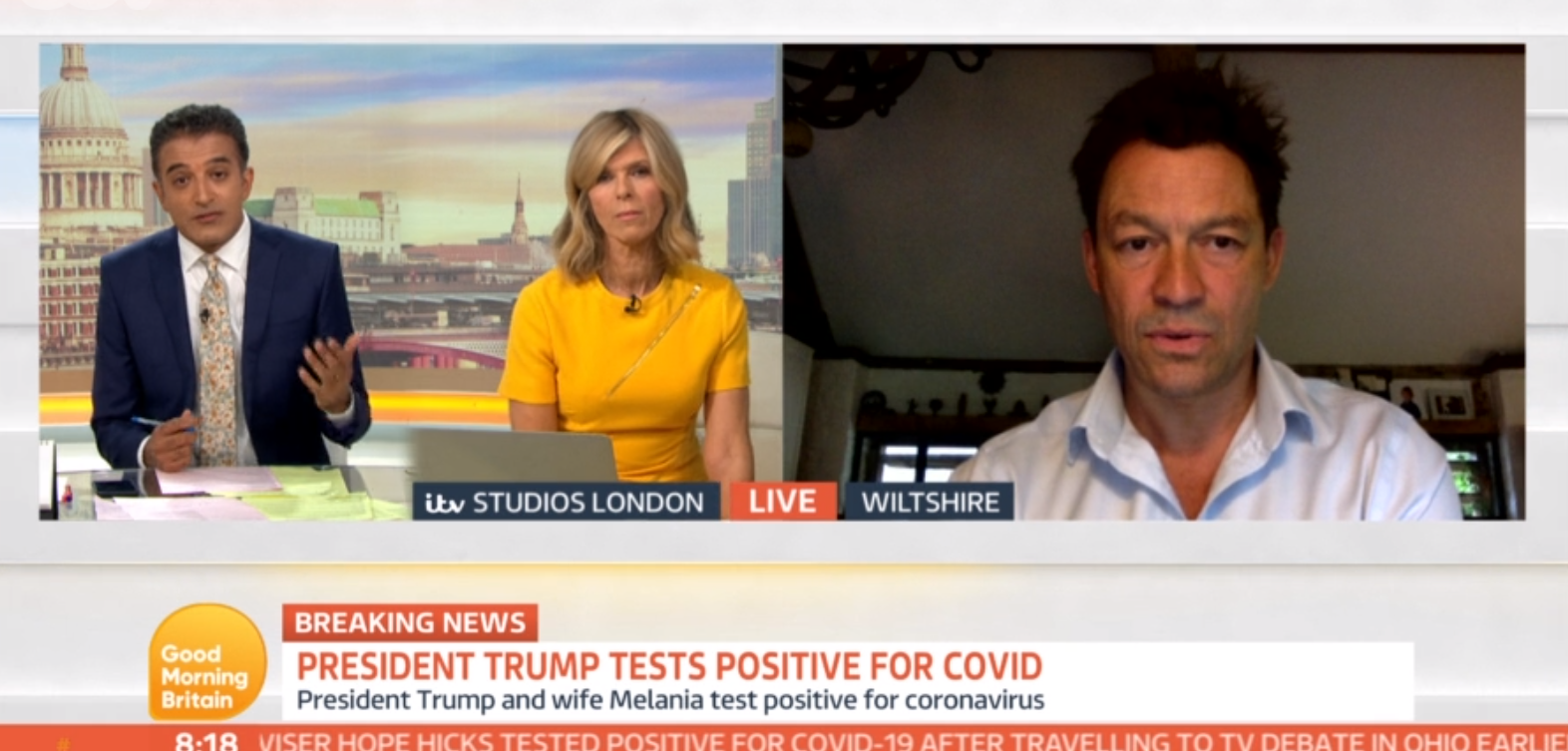 Dominic West on GMB