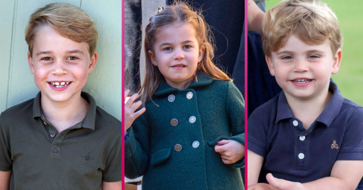Prince George Charlotte and Louis