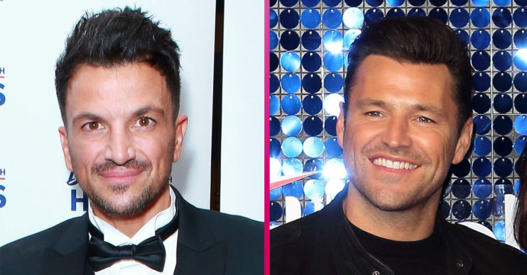 Peter Andre and Mark Wright
