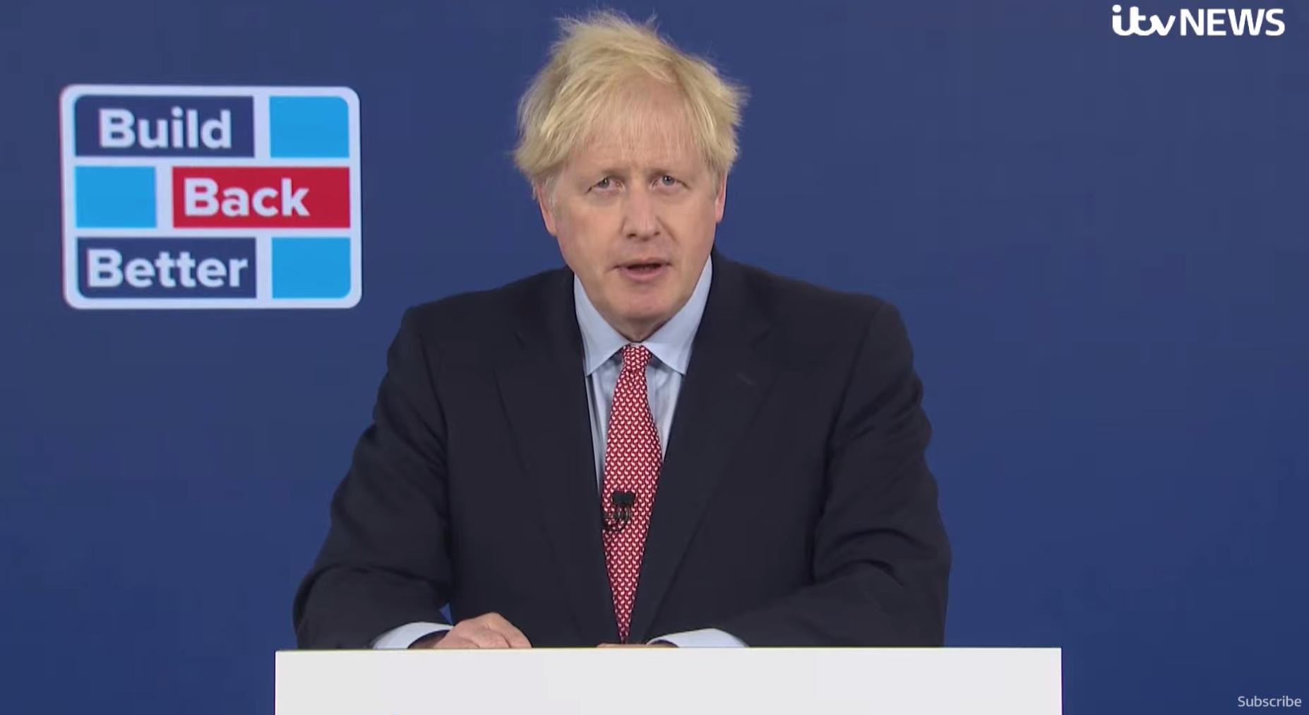 Boris Johnson social distancing