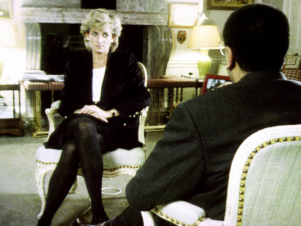 Princess Diana and Martin Bashir on Panorama