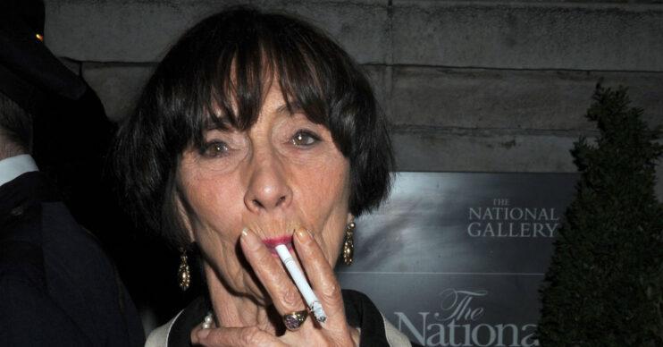 June Brown smoking