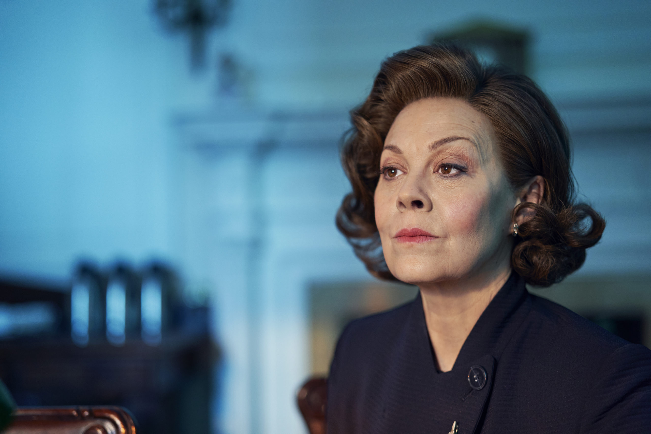 Helen McCrory as the PM in Roadkill