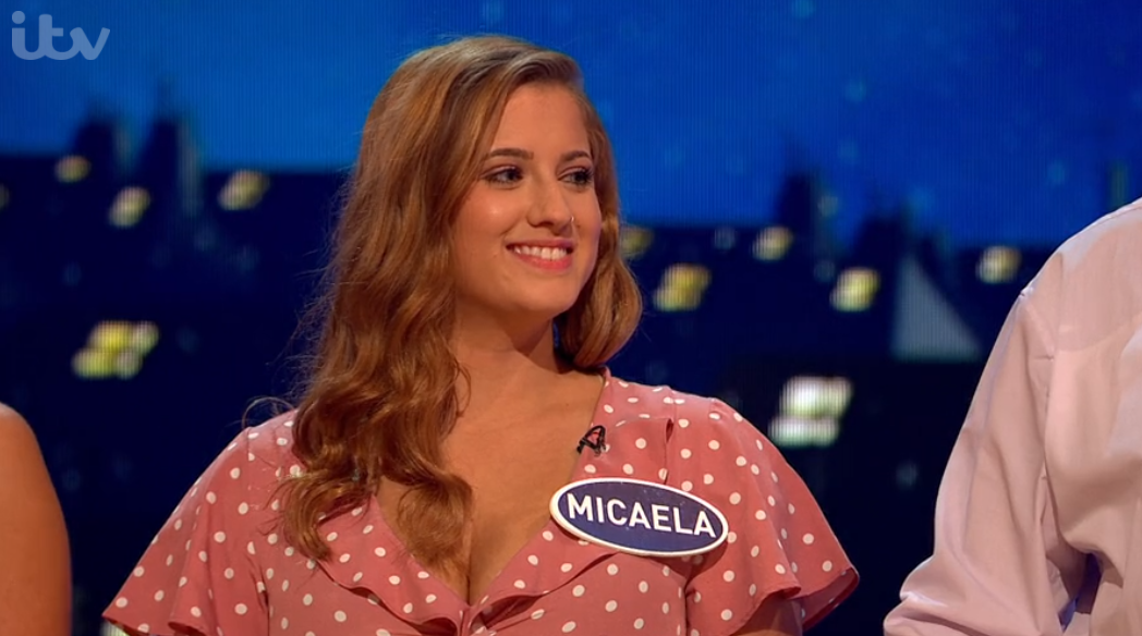 Micaela on Family Fortunes