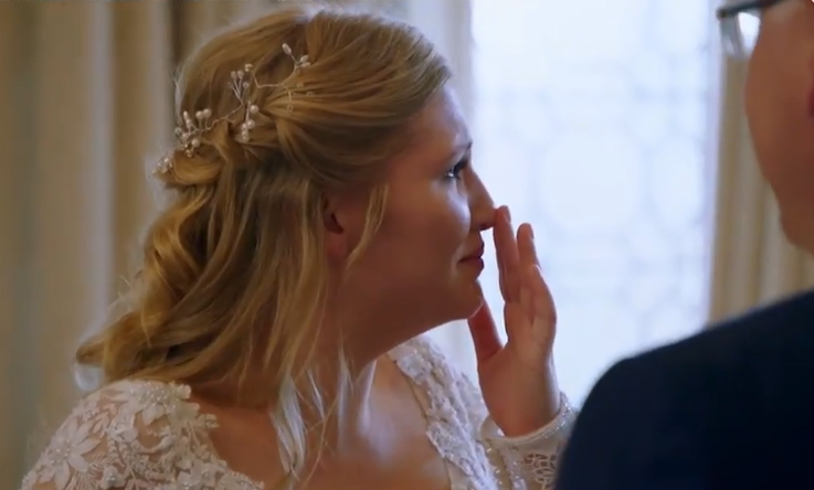 Michelle breaks down in tears on her wedding day on Married at First Sight (Credit: C4)