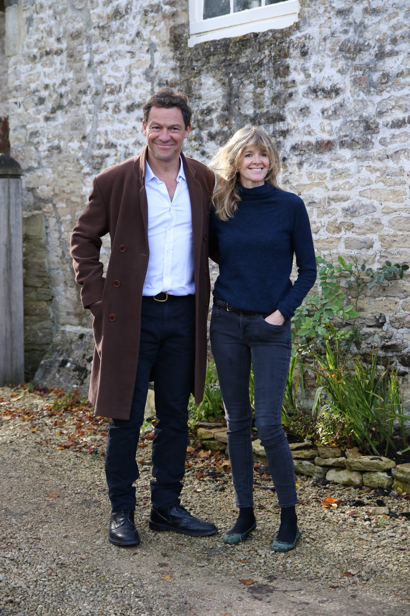 Dominic West and Catherine Fitzgerald