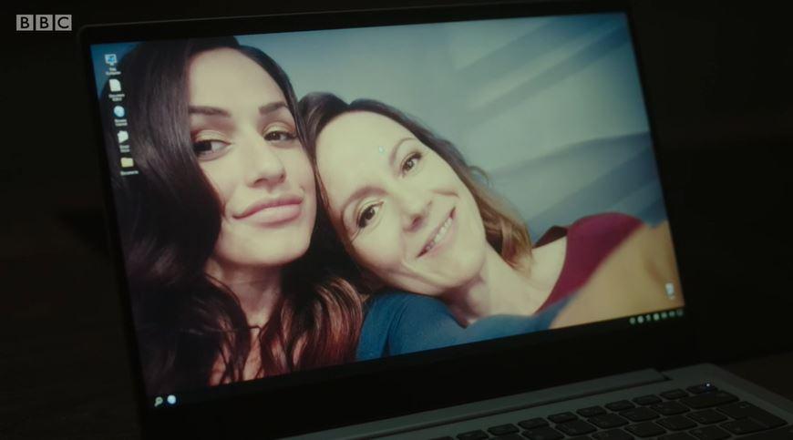 Saira and Kelly in Life BBC twist