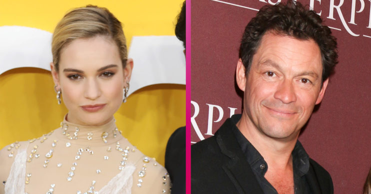 Lily James and Dominic West