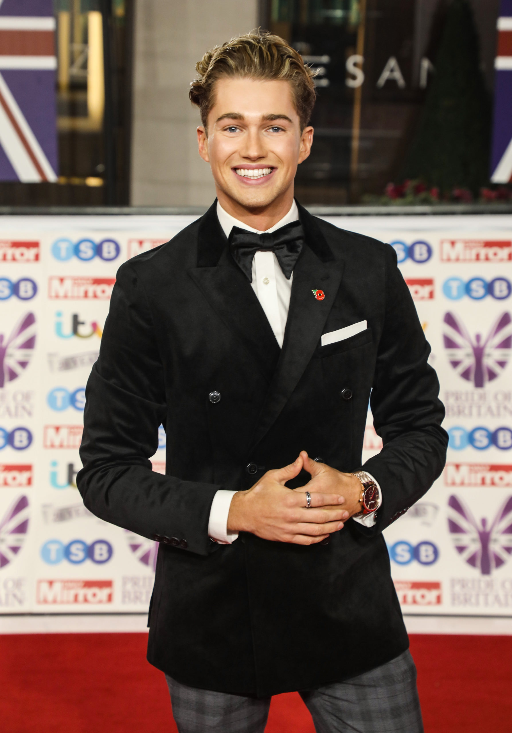 AJ Pritchard on the red carpet