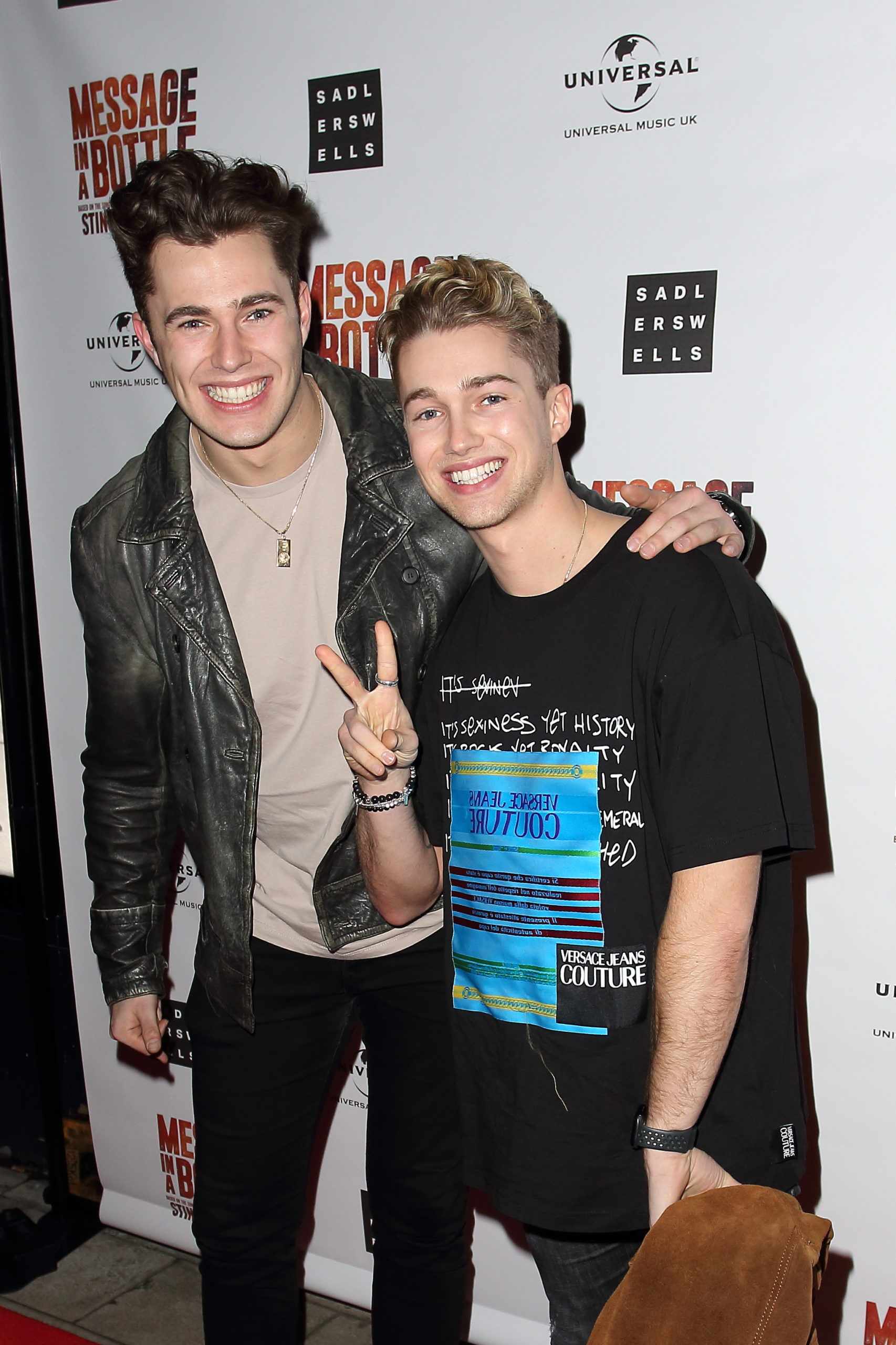 AJ and Curtis Pritchard at a press night