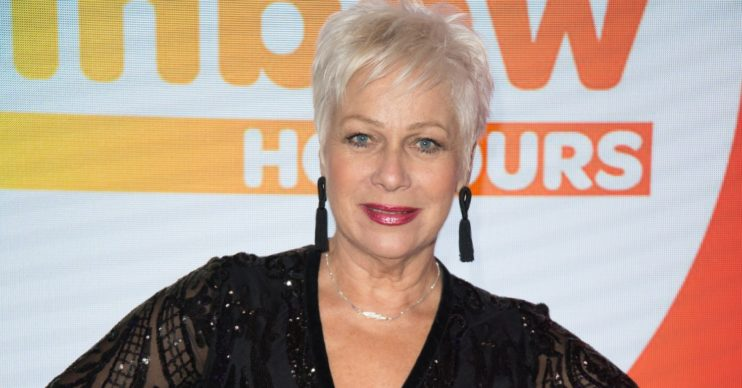 Denise Welch smiles on red carpet