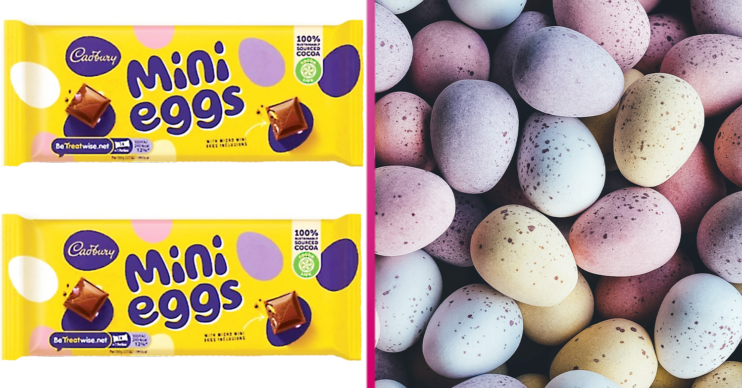 mini eggs bar