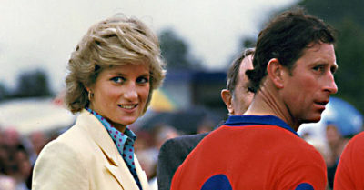 diana with charles polo