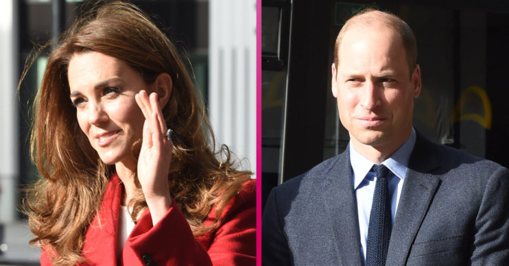 Kate Middleton red coat Prince William