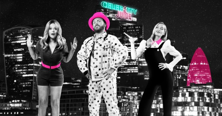 Celebrity Juice's Keith Lemon and team captains Emily Atack and Laura Whitmore