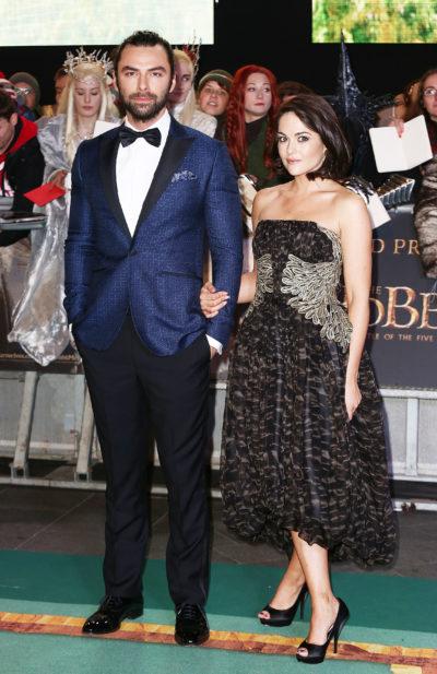 Aidan Turner and Sarah Greene on red carpet
