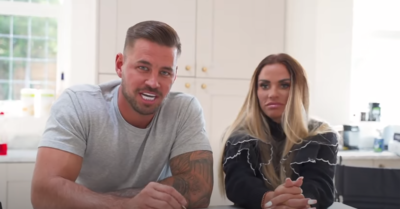 Carl Woods and Katie Price in their latest YouTube video
