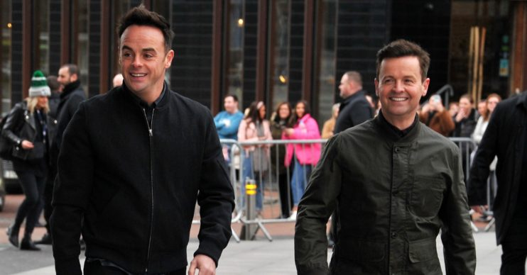Ant and Dec smile on red carpet