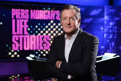 Piers Morgan in promo shot for Life Stories on ITV1