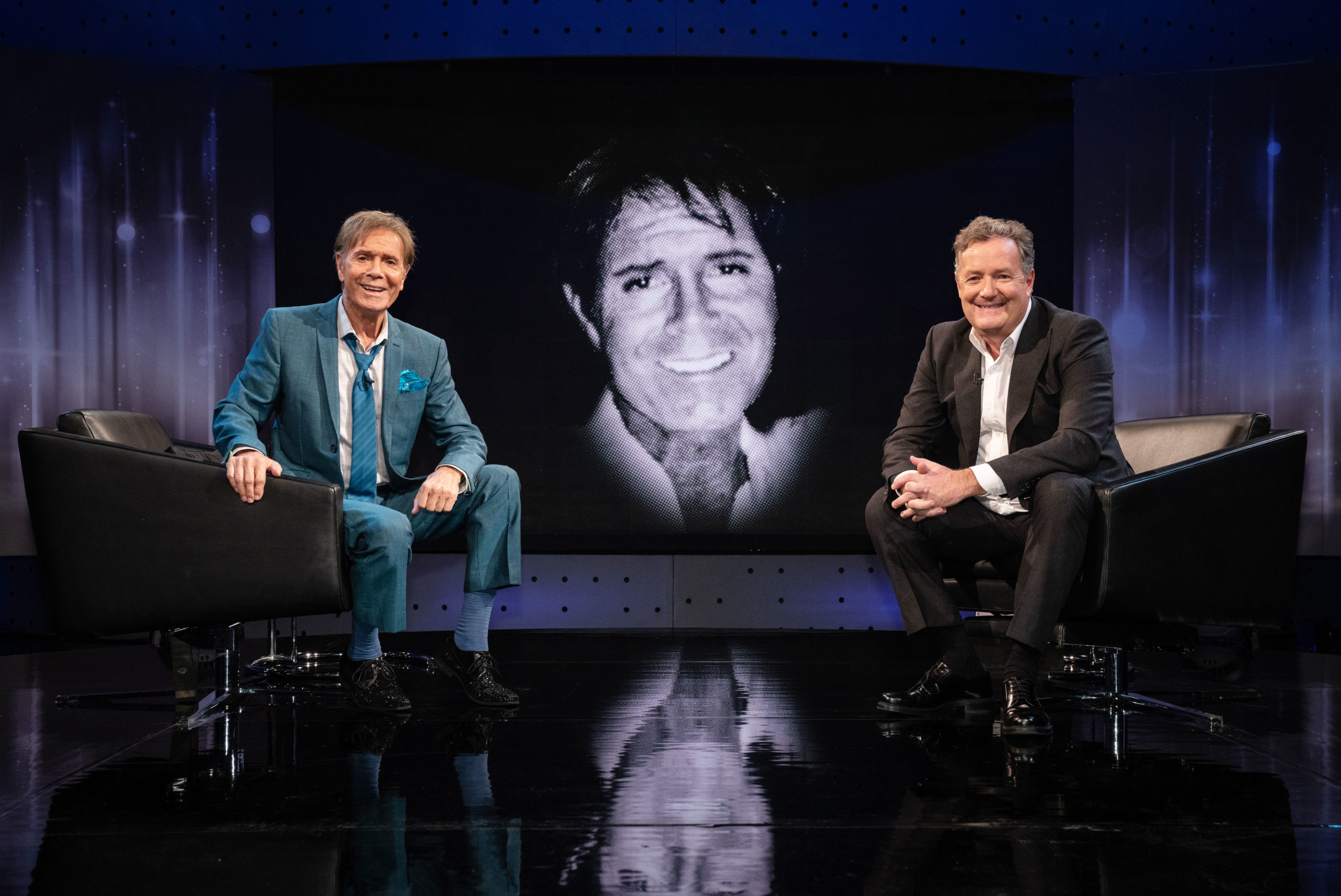PIers Morgan with Sir Cliff Richard