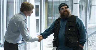 Simon Pegg as Dave, Nick Frost as Gus Roberts