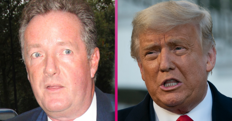 president trump and piers morgan