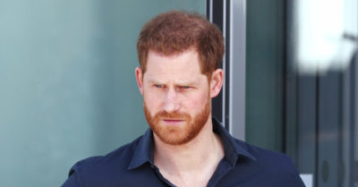 prince harry standing outside