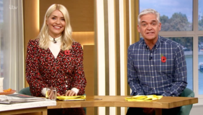Holly Willoughby and Phillip Schofield presenting This Morning