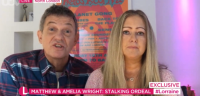 Matthew Wright and wife on Lorraine