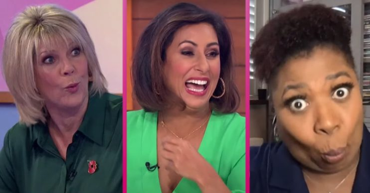 Ruth Langsford, Saira Khan and Brenda Edwards on Loose Women