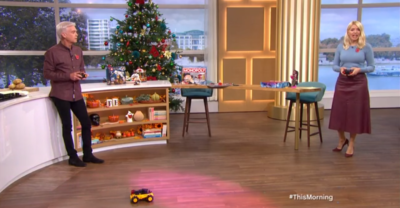 Phil and Holly on This Morning to review Christmas presents