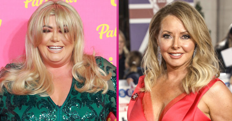 Gemma Collins and carol Vorderman