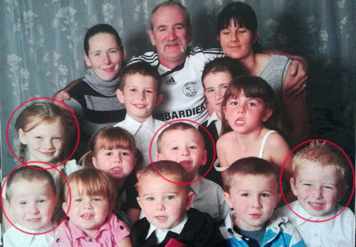 Mick Philpott children