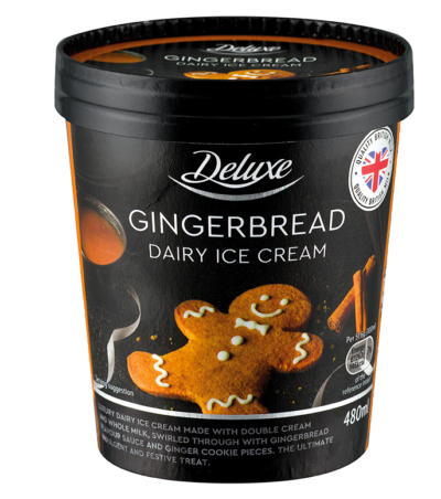 tub of gingerbread ice cream from Lidl