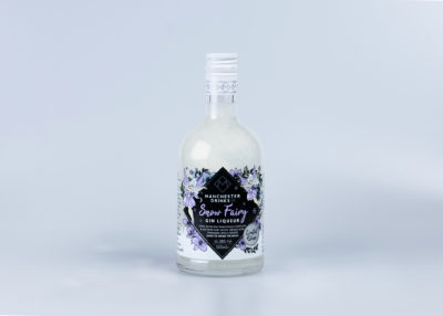 bottle of sparkly snow fairy gin