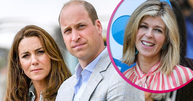 Kate Middleton and Prince William alongside Kate garraway