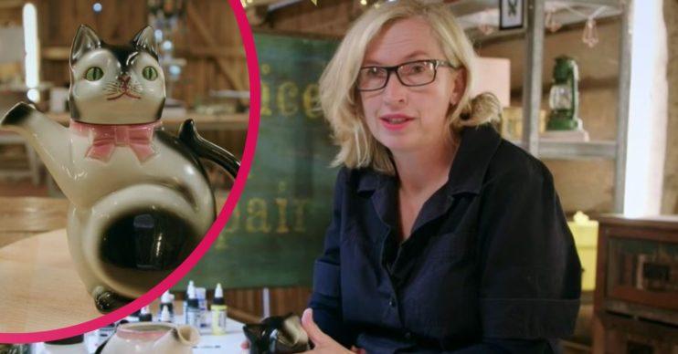 The Repair Shop Cat teapot and Kirsten
