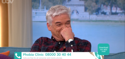 Phillip Schofield laughing on This Morning