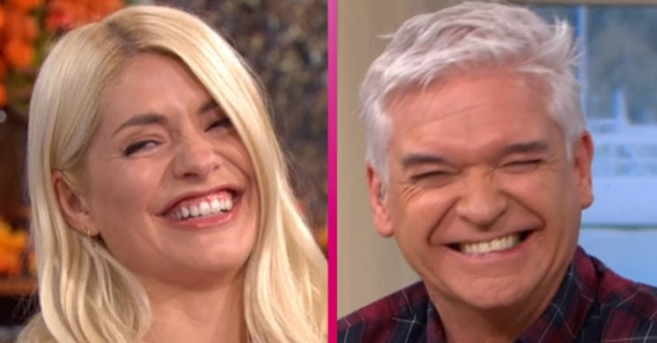 Holly Willoughby and Phillip Schofield have giggling fit on This Morning