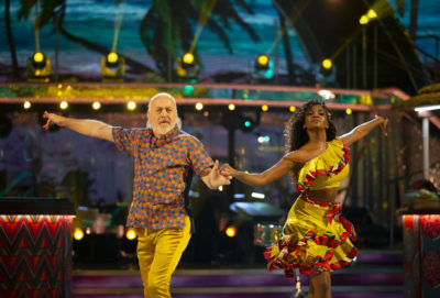 Bill Bailey dancing on Strictly with Oti Mabuse