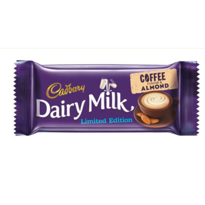 New coffee and almond Dairy Milk bar
