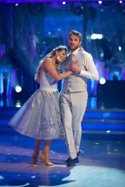 Amy and JJ dancing on Strictly